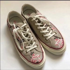 CONVERSE  embroidered floral sneakers